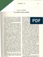 Ensaio Michel de Montaigne Covardia1