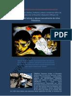 Los niños palestinos detenidos por el Estado sionista sufren abusos sexuales
