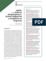 20.004 Cefalea aguda. Mecanismos etiopatogénicos. Actitud diagnóstica y terapéutica en Urgencias