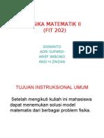 Kontrak Kuliah ( fisika matematika II )