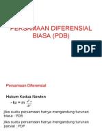 Persamaan Diferensial Biasa (Pdb) ( fisika matematika II )