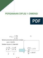PERSAMAAN DIFUSI 1-DIMENSI ( fisika matematika II )