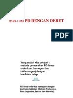 Solusi Pd Dengan Deret ( fisika matematika II )