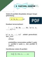 Trans Sistem n Partikel Identik ( fisika kuantum )