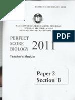 Perfect Score Biology Paper 2 (Module 2)