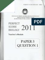 Perfect Score Biology Paper 3 (Module 1)