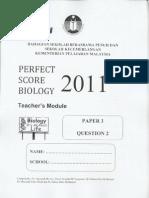 Perfect Score Biology Paper 3 (Module 2)