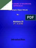 Mardiana CB VI-A Billingual Simple Object Words