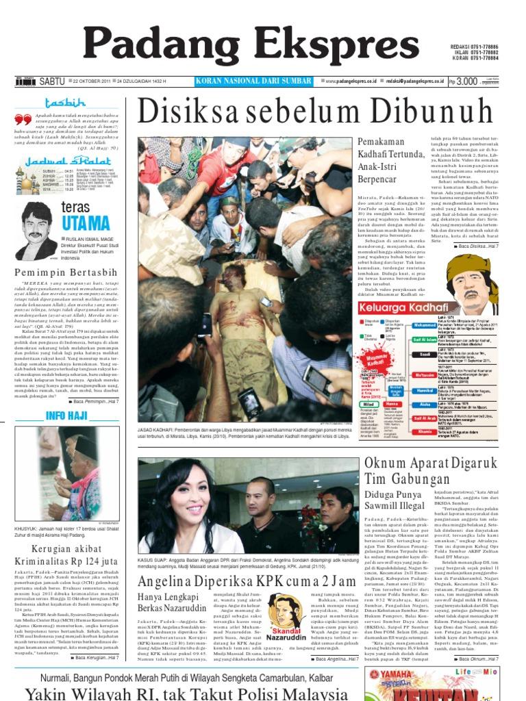 Koran Padang Ekspres Sabtu 22 Oktober 2011 Tcash Vaganza 36 Produk Ukm Bumn Batik Print Motif3