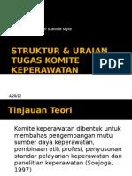 Struktur & Uraian Tugas Komite Keperawatan