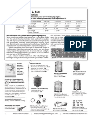 flat head 6 | Cylinder (Engine) | Screw