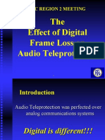The Effect of Digital Frame Loss on Audio Teleprotection