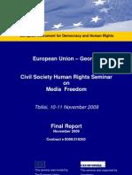 Eu Georgia Final Report Media Freedom Nov 2009 En