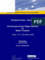 Eu Georgia Seminar Annexes Media Freedom Nov 2009 En