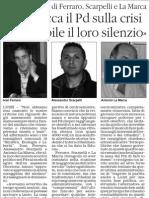 Comunicato Stampa SEL Luzzi