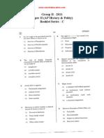 GroupII-2011-PaperII AP History&Polity With Key