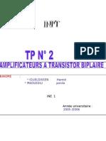 TP No 2 d'Electronique Analogique