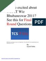 TCS IT Wiz 2011 Bhubaneswar Finals