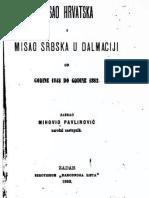 Mihovil Pavlinovic - Misao Hrvatska i Misao Srbska u Dalmaciji Od God. 1848-1882