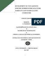 Under Graduate Dissertation Work