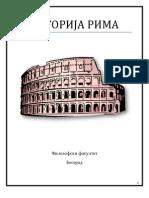 Istorija Rima - skripte