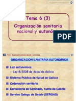 Tema 6 (3). Organización Gral Sanidad_CRL_Legisla 2011-12