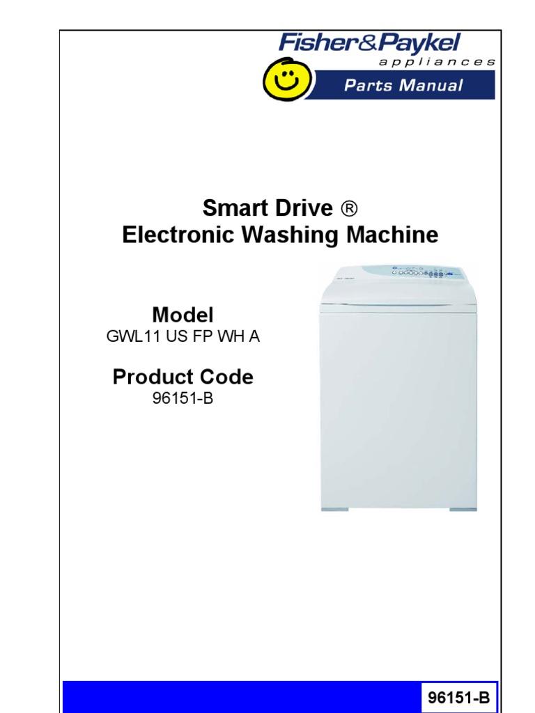Fisher And Paykel Gwl11us Washing Machine Wiring Diagram