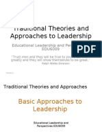 Traditional Theories and Approaches to Leadership