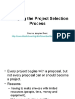 Managing the Project Selection Process