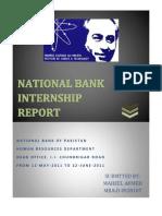 Internship Report on NBP Human Resource Department