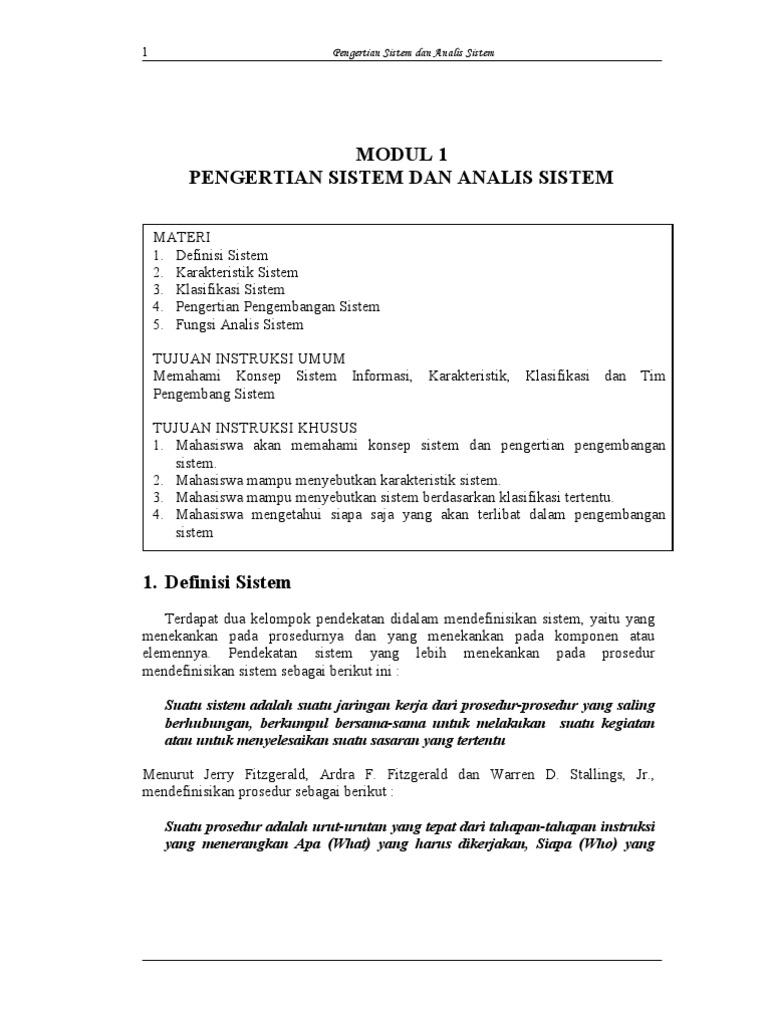 Modul 1 analisis perancangan sistem informasi pengertian sistem modul 1 analisis perancangan sistem informasi pengertian sistem dan analis ccuart Image collections