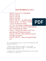 What is a Class D IP address