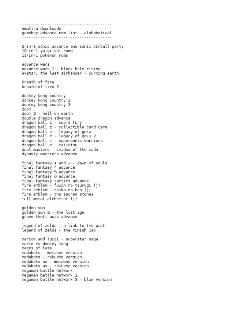Gba Rom List Alphabetical Star Wars Video Games