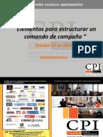 Elementos para Estructurar un Comando de Campaña - Por Oswaldo Moreno