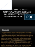 CONSTRAINT – BASED MAINTENANCE SCHEDULING ON AN