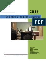 Ed Ebreo's Training List