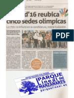 Aranjuez pierde el canal de remo olímpico. Madrid 2016