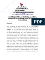 Enabling Public Audit Ability and Data Dynamics for Storage Security in Cloud Computing