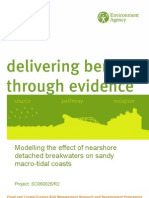 Modelling the Effect of Nearshore Detached Breakwaters