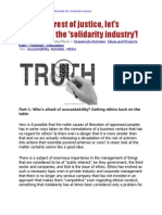"""In the interest of justice, let's dismantle the """"solidarity industry"""""""