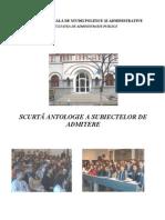 SNSPA-Brosura admitere 2007-2008-2009-2010