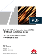 Quick Installation Guide IDU 910
