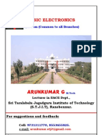 1st Year Basic Electronics Notes by Arunkumar G, Lecturer in