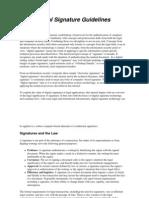 Digital Signature Guidelines
