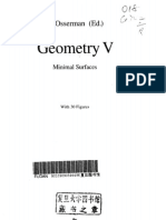 Geometry, vol.5 - Minimal surfaces (ed. Osserman) [EMS 90]