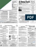 October 23 Bulletin