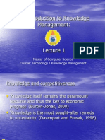 Lecture 1 - Introduction to Knowledge Management