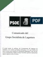 Comunicado PSOE Lagartera 11 1021