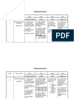 Weekly Lesson Plan 1(Year 1 )