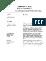 Zoning Board Agenda 20070719